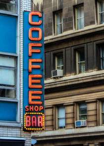 Union Square Coffee Shop Sign by Jon Woodhams