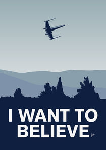 My I want to believe minimal poster-xwing von chungkong