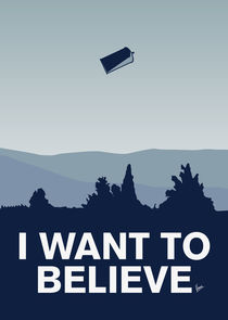 My I want to believe minimal poster-tardis von chungkong