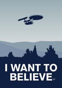 My I want to believe minimal poster-Enterprice von chungkong