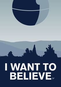 My I want to believe minimal poster-deathstar von chungkong