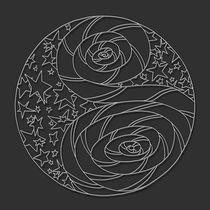 Stars N Stripes Mandala - white design by themandalalady