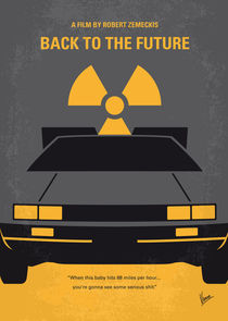 No183 My Back to the Future minimal movie poster-part I by chungkong