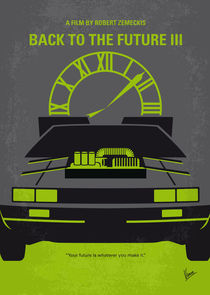 No183 My Back to the Future minimal movie poster-part III von chungkong
