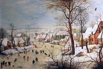 Winter Landscape with Birdtrap by Pieter Brueghel the Elder