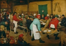 Peasant Wedding by Pieter Brueghel the Elder