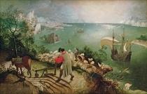 Landschaft mit dem Sturz des Ikarus von Pieter Brueghel the Elder