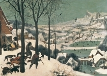 Hunters in the Snow  by Pieter Brueghel the Elder