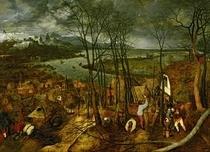 Der düstere Tag von Pieter Brueghel the Elder