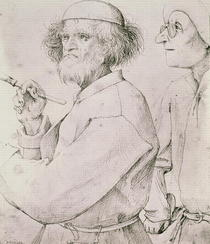 The Painter and the Art Lover  by Pieter Brueghel the Elder