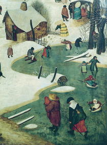Children Playing on the Frozen River, detail from the Census of  by Pieter Brueghel the Elder