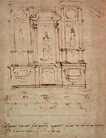 Entwurf für das Familiengrab der Medici von Buonarroti Michelangelo