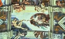 Sistine Chapel Ceiling: Creation of Adam by Buonarroti Michelangelo