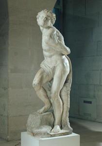 The Rebellious Slave by Buonarroti Michelangelo