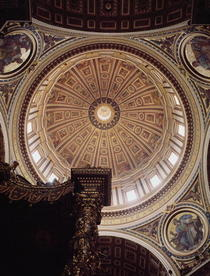 View of the interior of the dome, begun by Michelangelo in 1546 by Buonarroti Michelangelo