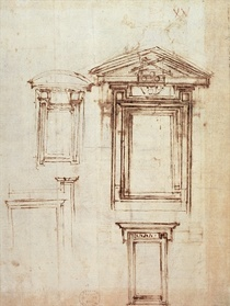 Study for a window by Buonarroti Michelangelo
