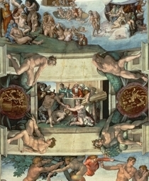 Sistine Chapel Ceiling: The Sacrifice of Noah by Buonarroti Michelangelo