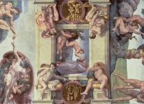 Sistine Chapel Ceiling: The Creation of Eve by Buonarroti Michelangelo