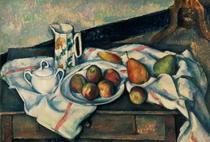 Stillleben mit Äpfeln und Birnen von Paul Cezanne