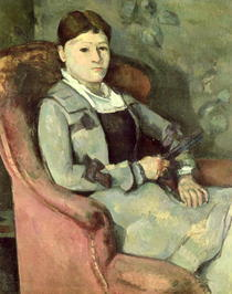 The Artist`s Wife in an Armchair by Paul Cezanne