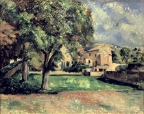 Trees in a Park, Jas de Bouffan by Paul Cezanne