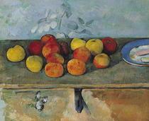 Stillleben mit Äpfeln und Gebäck von Paul Cezanne