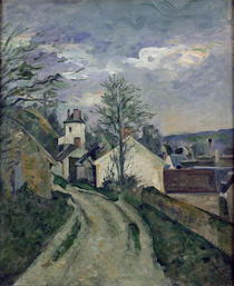 The House of Doctor Gachet at Auvers by Paul Cezanne