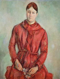 Portrait of Madame Cezanne in a Red Dress by Paul Cezanne