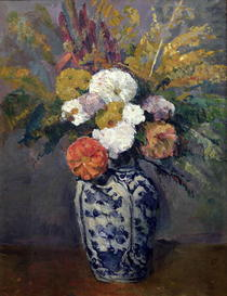 Dahlias by Paul Cezanne