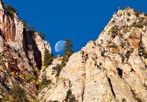 Moon rising, Zion, Utah, USA by Ken Howard