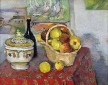 Stillleben mit Schüssel von Paul Cezanne