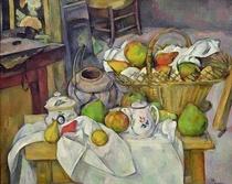 Stillleben mit Obstkorb von Paul Cezanne