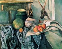 Stillleben mit Krug und Auberginen von Paul Cezanne