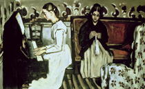 Girl at the Piano (Overture to Tannhauser) by Paul Cezanne