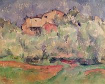 Das Haus bei Bellevue von Paul Cezanne