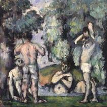 Die fünf Badenden von Paul Cezanne