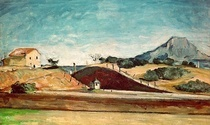 The Railway Cutting by Paul Cezanne