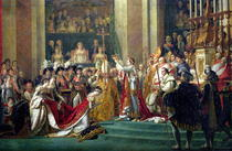 The Consecration of the Emperor Napoleon and the Coronation of t by Jacques Louis David
