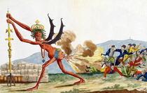 Karikatur der englischen Regierung von Jacques Louis David