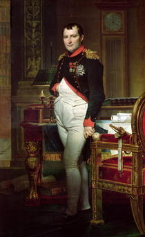 Napoleon Bonaparte in his Study at the Tuileries by Jacques Louis David