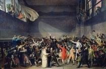 Schwur im Ballhaus von Jacques Louis David