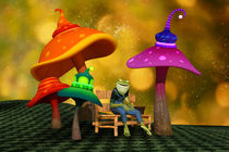 Whimsical Mushrooms and Ribbits The Frog von Liam Liberty