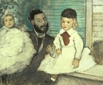 Comte Le Pic and his Sons  by Edgar Degas