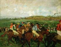 Herrenreiter vor dem Start von Edgar Degas