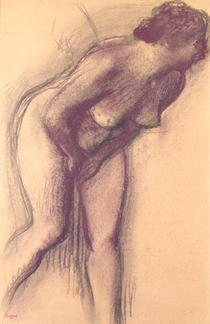 Female Standing Nude by Edgar Degas