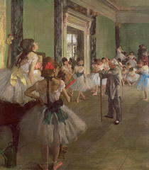 The Dancing Class by Edgar Degas