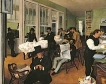 Die Baumwollbörse in New Orleans von Edgar Degas