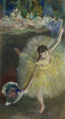 End of an Arabesque by Edgar Degas