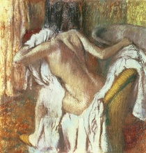 Woman drying herself, c.1888-92 (pastel)  by Edgar Degas