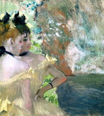 Dancers in the Wings (pastel on paper)  by Edgar Degas